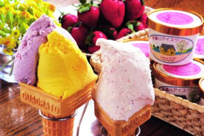 アイスクリーム&レストラン花茶